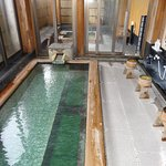 As well as the natural spring down stairs there are larger Onsen upstairs.