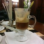 Cafe Savoy (Coffee, blended with Liqueur and a generous dollop of fresh cream, Delicious