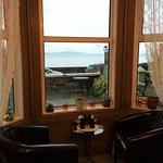 2 Chairs in front bay window where we had wine in the evening