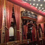 Decor is Southern COOOOL...!!!! Brick, dark varnished woods, velour curtains..!!!