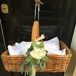 Baskets of Pastries delivered to door of suite every morning