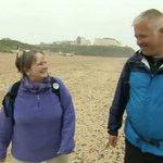 Derek Brockway on a walk with me for Weatherman Walking BBC Wales