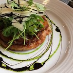 Onion tart tatin which had little seasoning was disappointing
