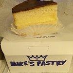 Boston Creme Pie. So light and delicious