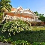 "Villa ""Petrea"" with its beautiful bougainvillea and wide verandah"