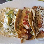 Coastal trio taco plate from rubios.
