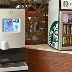 On Demand Starbucks Machine & Sundry located in the Lobby