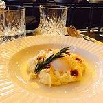 Huevo cocinado a baja temperatura con patata. Delicioso!
