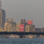 Gezicht op de skyline van Cairo