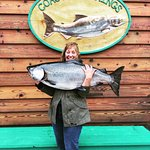 Tammy with a 47lb Chinook salmon
