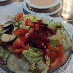 side salad with beets