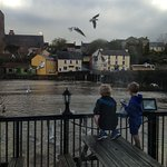 Children feeding the gulls.