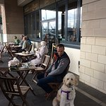Lovely crispy day at Poole Quay, stopped into Deli on the Quay for hot drinks - superb service a