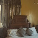 Loved the antique bed and furniture in the Alpharetta room.