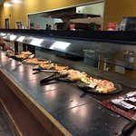 Some of the pizza buffet