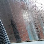 Has it been raining? as all the windows were condensated