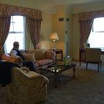 Spacious living room in corner suite - very nice!