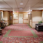 Enjoy our wide hallways with seating, to enjoy conversation with those you are traveling with.