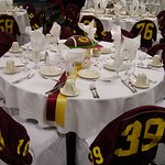We love hosting sports banquets for the local high schools.