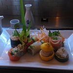 4 and 6 maki plus 3 types of sashimi