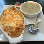 Seafood Crepe w/ Mushroom Soup