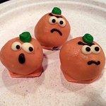 Halloween pumpkin cake balls