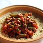 wok fried veggies with couscous