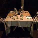 Lovely romantic dinner on our terrace - just for us :)