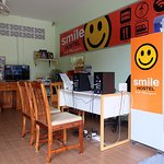 Reception of Smile Hostel Koh Phangan