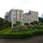 View of Chillingham Castle form the ornamental garden