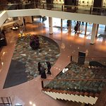 The lobby - look closely for the few seats in the corner
