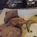 Pork medalians with Marsala wine sauce