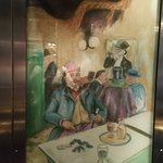 Hotel art in the lift
