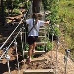 This a beginner's rope bridge at Cranmore.