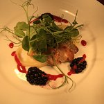 Pheasant breast, parsnip purée ,blackberry dressing