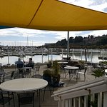 outdoor dining at Sporthaven Marina Brookings, OR