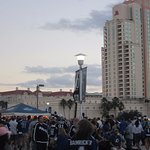 Outside before the game