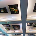 framed paintings on ceiling