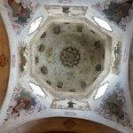 Paintings on the ceiling.