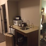 This was a suite which came with a fridge, microwave and sink.