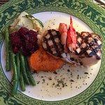 Haddock w/lobster & seasonal veg