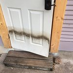 Replaced door frame and water damaged and rotted door into cottage