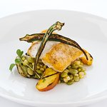 Nightly fresh catch specials with local vegetables.