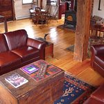 Enjoy a cup of hot cocoa in front of the wood burning stove or play one of our many games.