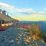 Sandia Peak Tramway viewing point.