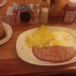 My breakfast with wheat toast