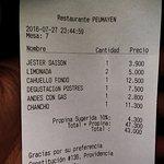 Los precios en pesos chilenos