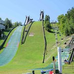 Base of ski jump with chairlift