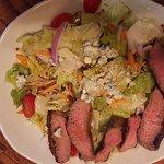 Ribeye melt and steak salad