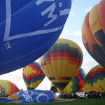 Still on the ground - waiting for neighboring balloons to lift off!
